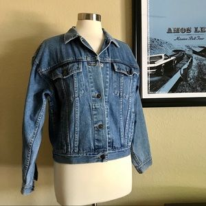 Blue Jean Denim Trucker Jacket Medium No Brand